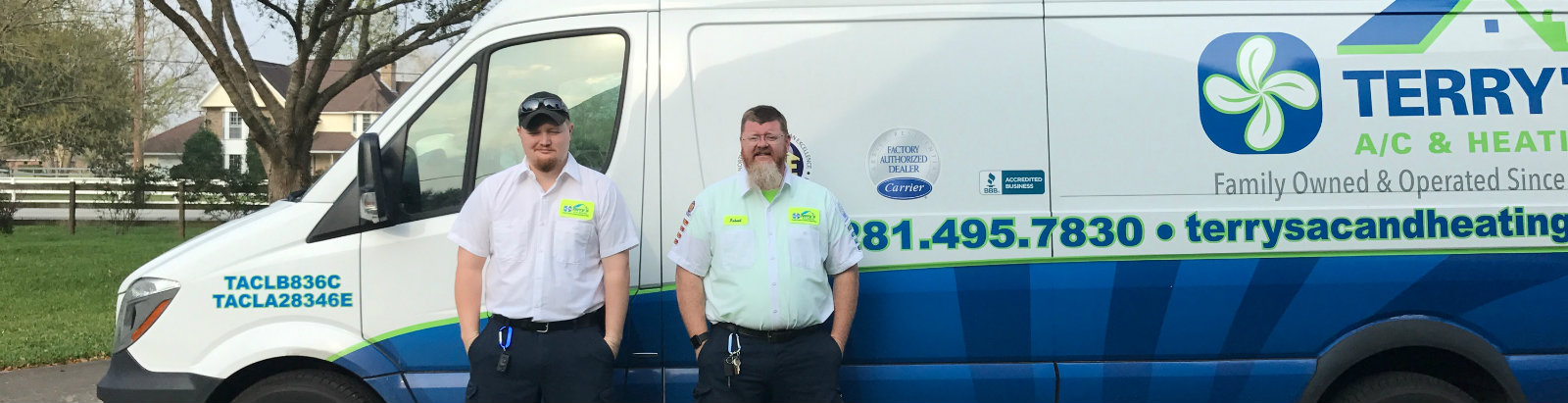 Rob Terry and Kenny Langford of Terry's A/C and Heating