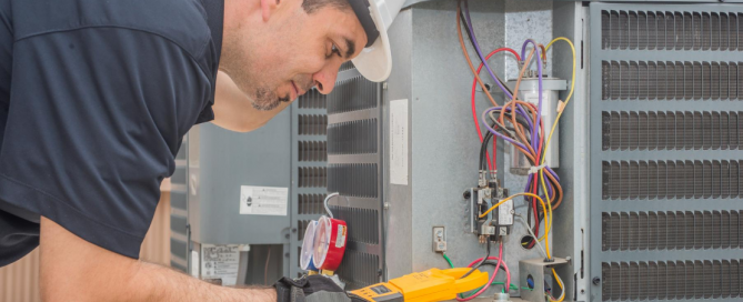 licensed hvac technician giving an HVAC tune-up