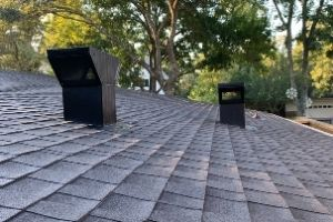 custom kitchen vent hood baffle on the roof
