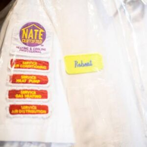 NATE certified heating and cooling professional